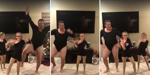 dad dances to single ladies