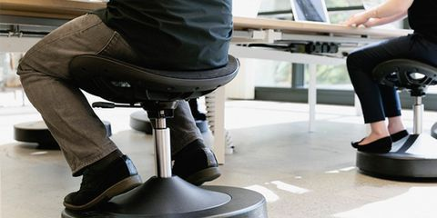 desk chair core workout