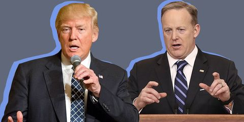 Donald Trump Reportedly Screamed at Sean Spicer For Wearing the Wrong Suit