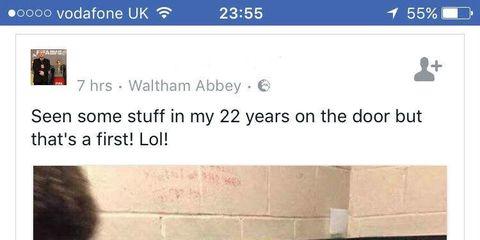 drunk man  in urinal