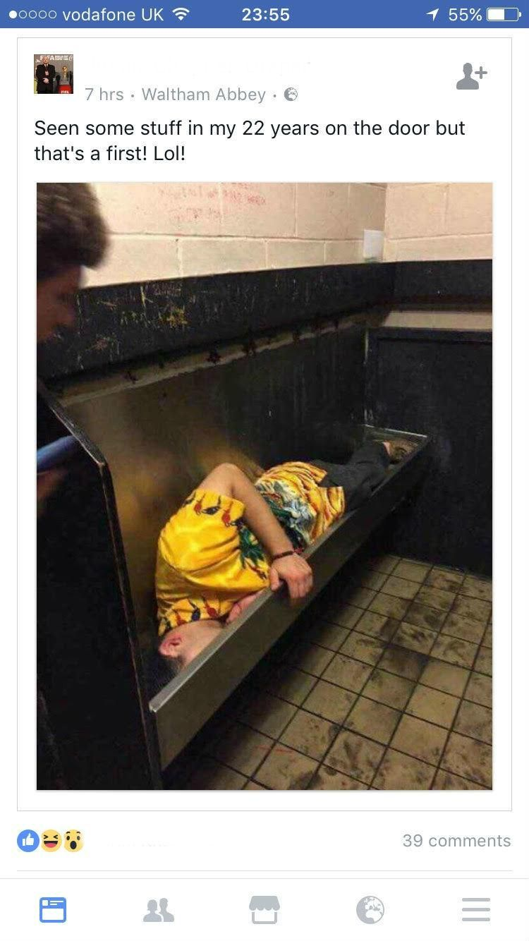 Passed Out In Urinal