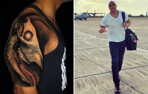 The Rock Explains Meaning Behind Bull Tattoo Men S Health