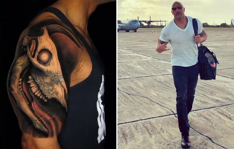 The Rock Explains Meaning Behind Bull Tattoo Mens Health