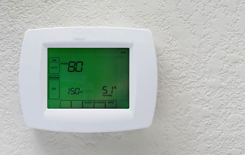 adjust thermostat