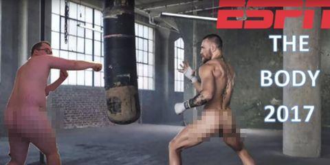 fantasy football loser recreates espn body mag