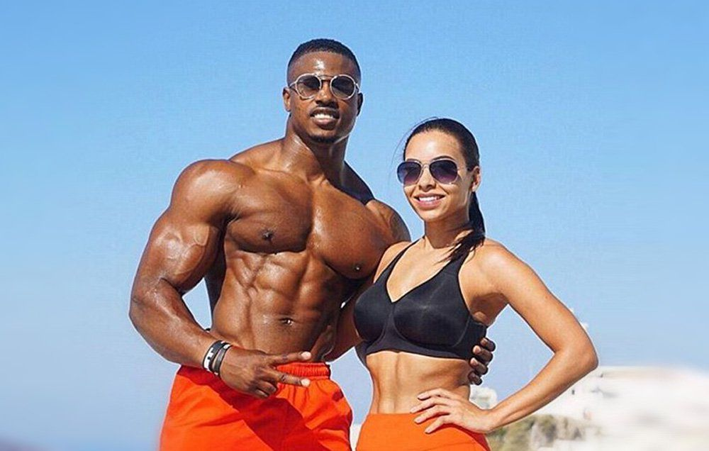 Simeon Panda with sexy, Girlfriend Chanel Brown