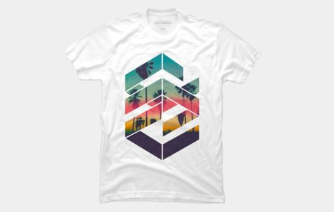 Geometric Sunset Beach Men's Perfect Tee