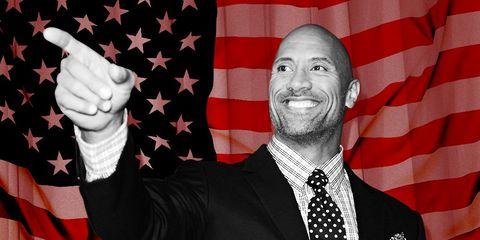 the rock running for president