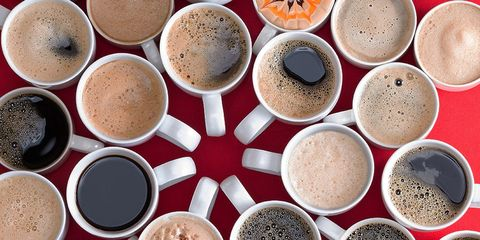 how much caffeine in favorite cup of coffee