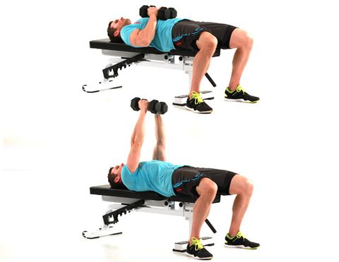 6 Dumbbell Squeeze Press
