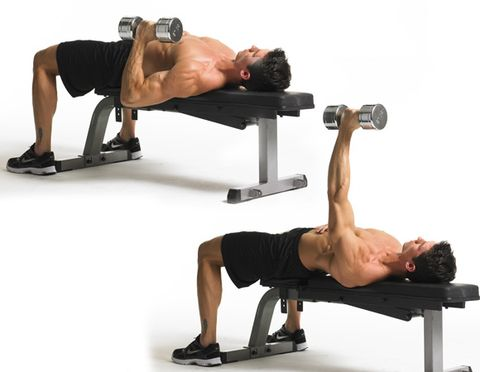 10 Single Arm Bench Press