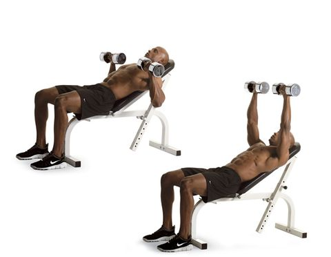 2 Incline Dumbbell Press
