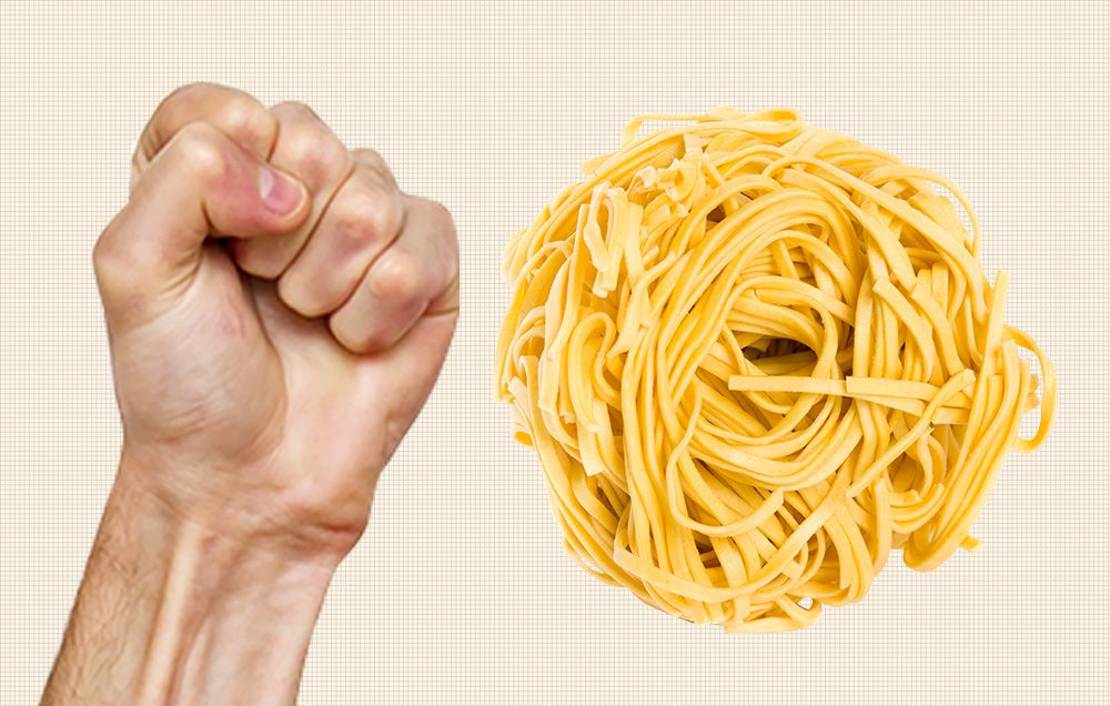 How many ounces is a cup of cooked spaghetti