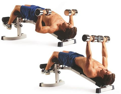 12 Decline Dumbbell Bench Press