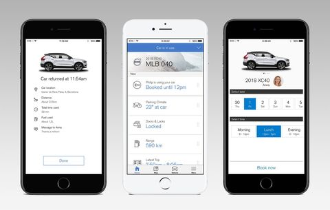 How to Borrow Your Friend's New Volvo With the Volvo On Call App