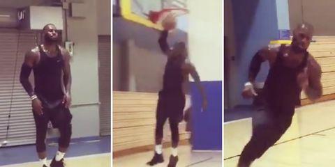 LeBron James crazy workout