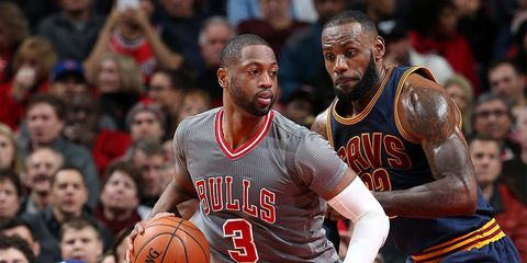 LeBron James and Dwayne Wade work out together