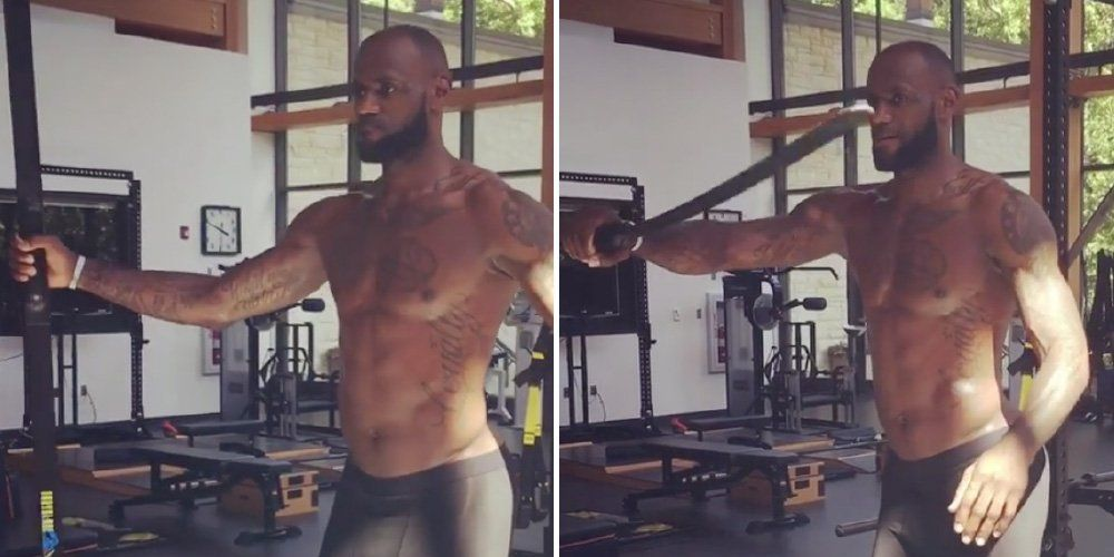 5431e51fc2a We re Not Laughing at LeBron James  Workout Equipment