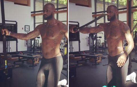 We're Not Laughing at LeBron James' Workout Equipment ...