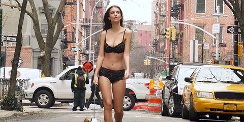 lingerie walking dog emily ratajkowski