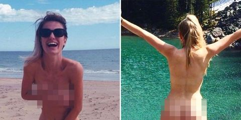 man created nude calendar for girlfriend naked in nature