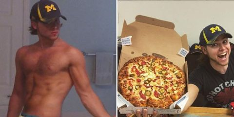 man eats pizza every day for a year—loses weight