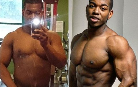 Bodybuilding Transformation: Man Hits Gym Hard After