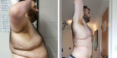man lost 168 pounds after girlfriend cheated