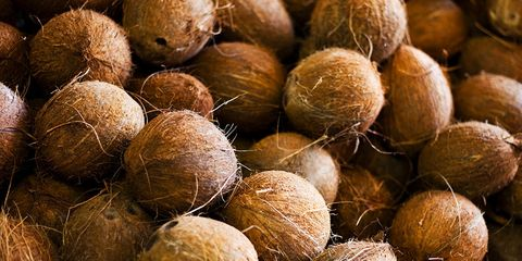 man has sex with coconut
