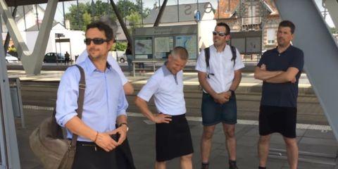 men wearing skirts