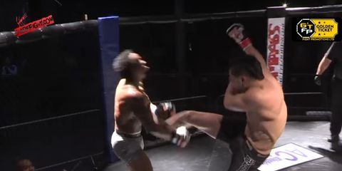 mma fighter tooth knocked out