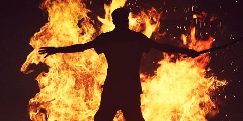 man bursts into flames and died and no one knows why