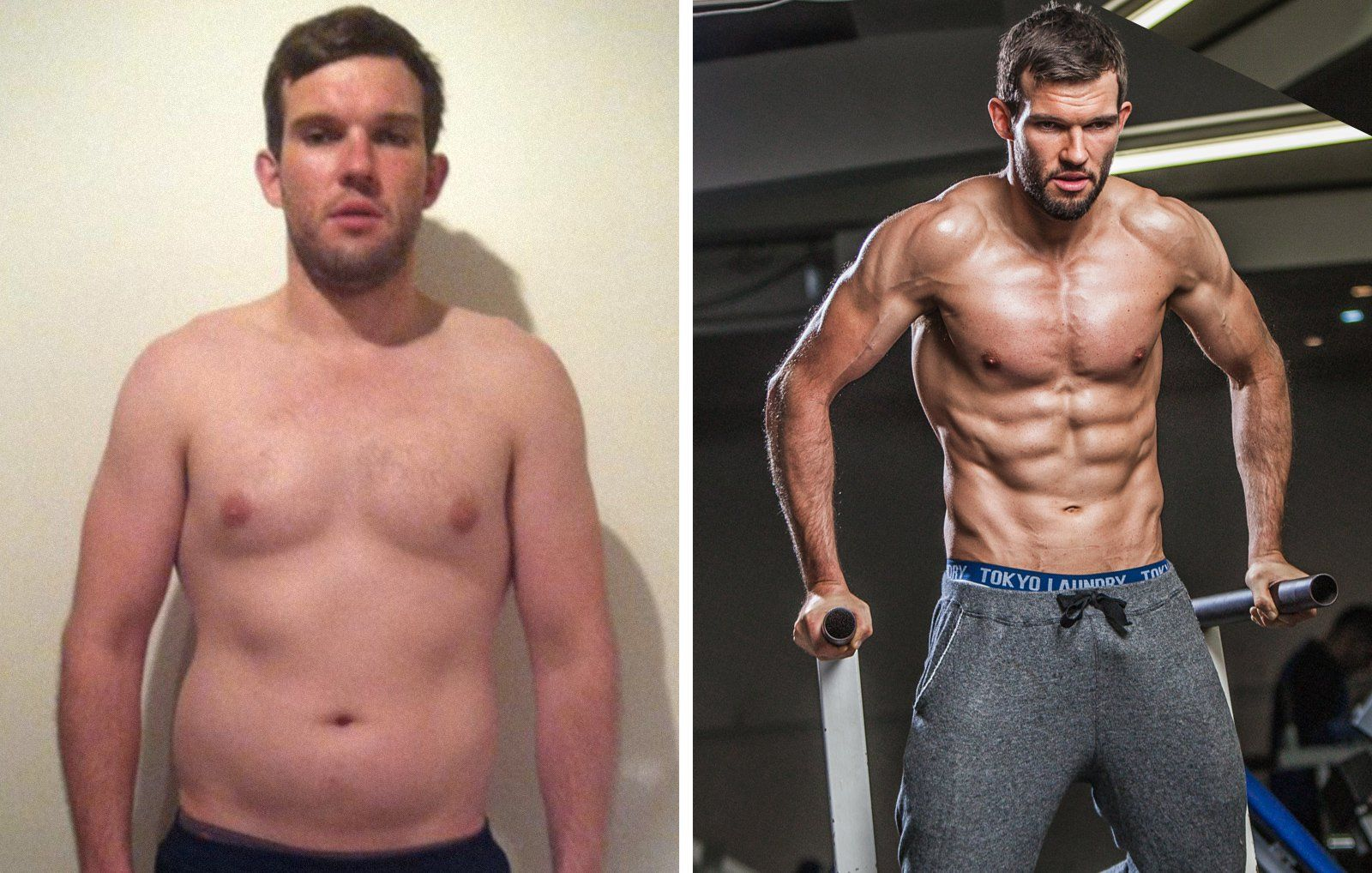 Incredible transformation of a guy in just six months