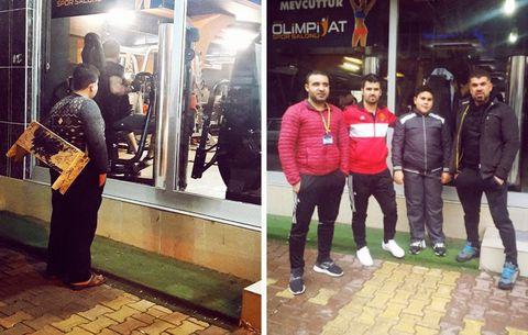 syrian refugee boy free gym membership