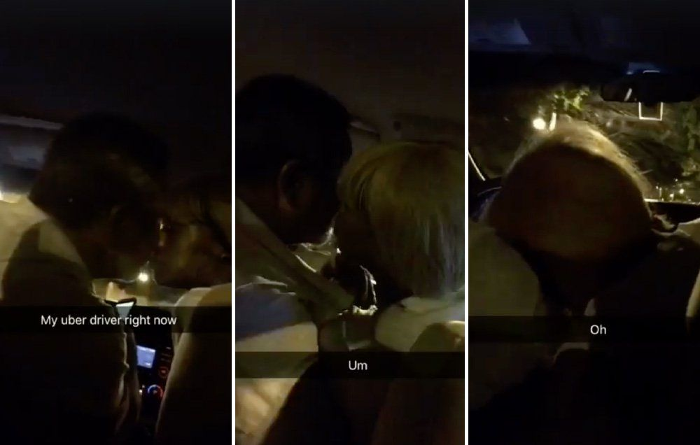 Uber driver blowjob