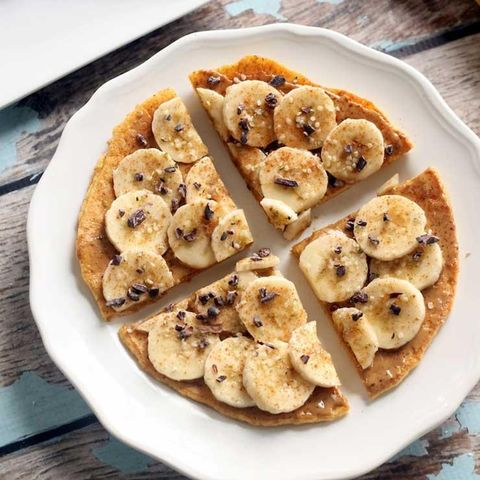 Peanut Butter–Banana Breakfast Pizza