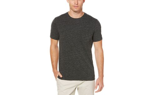 Perry Ellis Slub Crew Neck Pocket T-Shirt