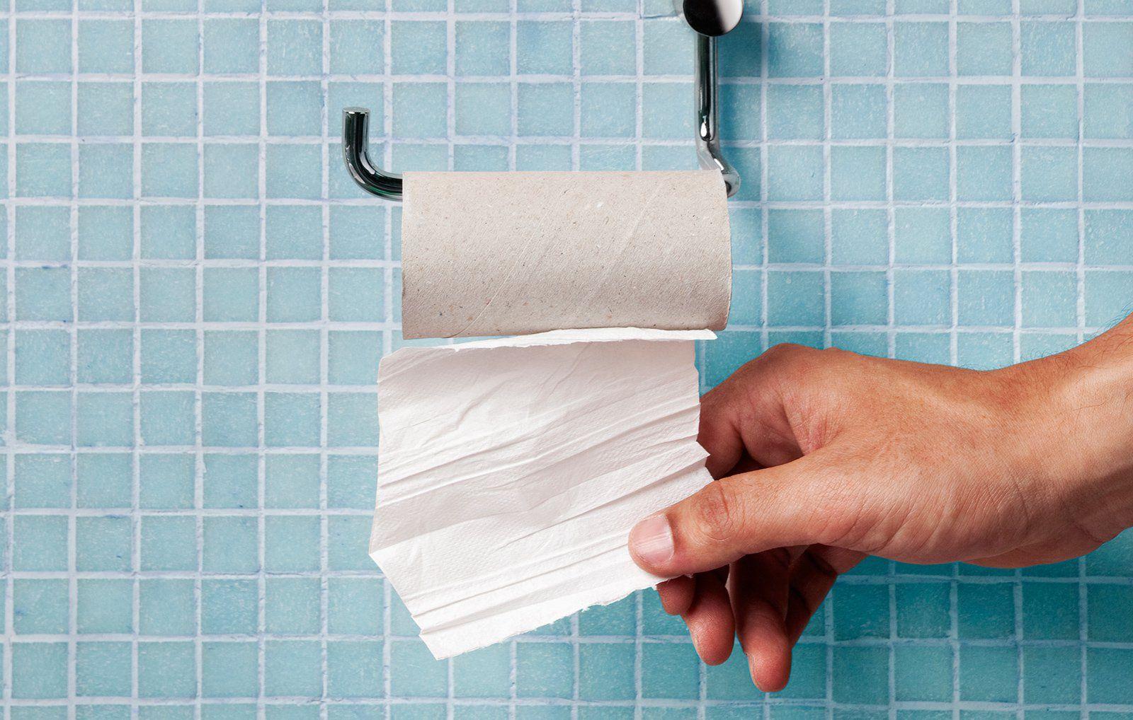 How clean anus paper