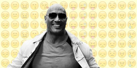 the rock doesn't think men should use this emoji
