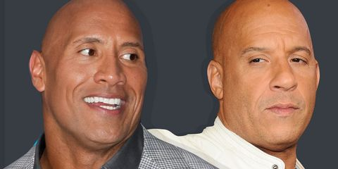 vin diesel and the rock fighting