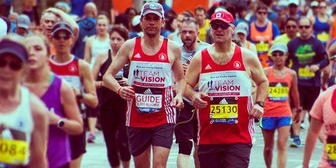 running marathon with blind friend