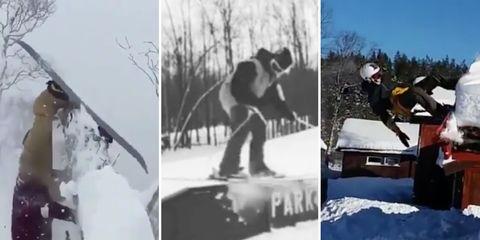 skier fails