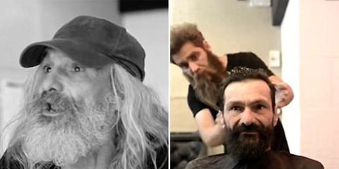 homeless man transformation