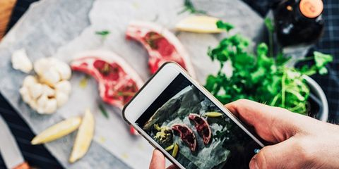 take picture food healthy instagram