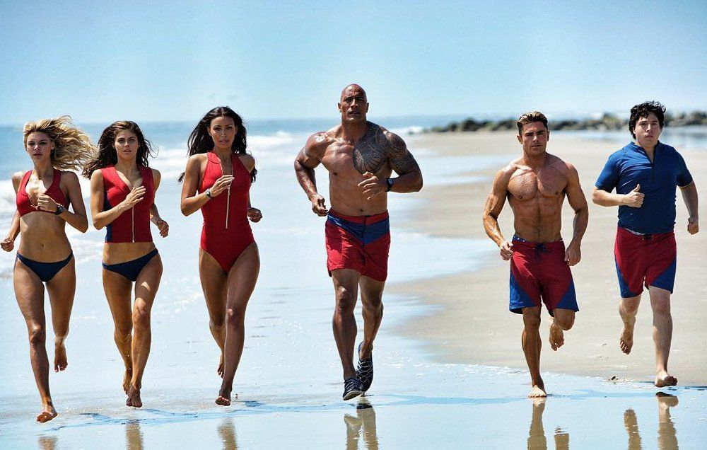 baywatch the rock priyanka chopra zac efron