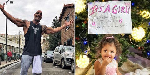 the rock is having another daughter