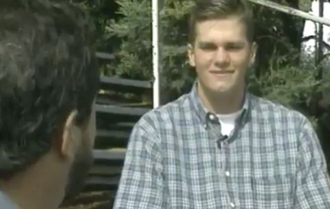 Newly-Released Video of Interview With High School Tom Brady | Men's