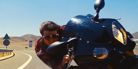 Tom Cruise injured filming Mission Impossible