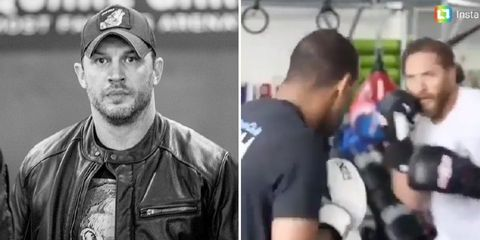 Tom Hardy boxing workout