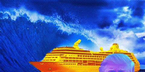Majorelle blue, Electric blue, Naval architecture, Travel, World, Boat, Passenger ship, Watercraft, Ocean liner, Cruise ship,
